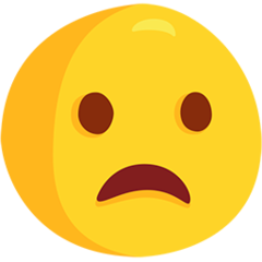 Frowning Face With Open Mouth facebook messenger emoji