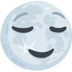Full Moon With Face facebook messenger emoji