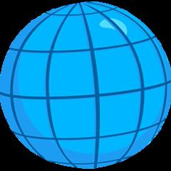 Globe With Meridians facebook messenger emoji