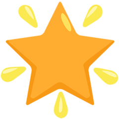 Glowing Star facebook messenger emoji