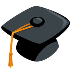 Graduation Cap facebook messenger emoji