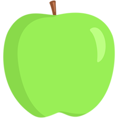 Green Apple facebook messenger emoji