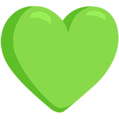 Green Heart facebook messenger emoji