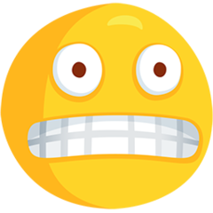 Grimacing Face facebook messenger emoji