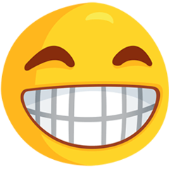 Grinning Face With Smiling Eyes facebook messenger emoji