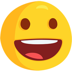 Grinning Face facebook messenger emoji
