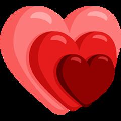 Growing Heart facebook messenger emoji