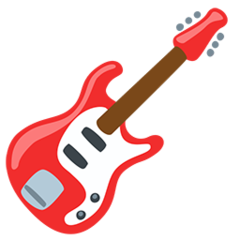 Guitar facebook messenger emoji