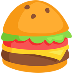 Hamburger facebook messenger emoji