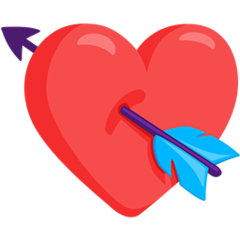 Heart With Arrow facebook messenger emoji