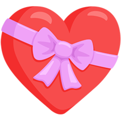 Heart With Ribbon facebook messenger emoji