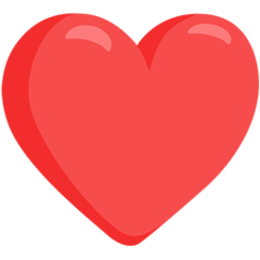 Heavy Black Heart facebook messenger emoji