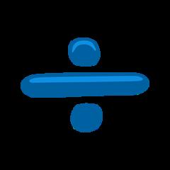 Heavy Division Sign facebook messenger emoji