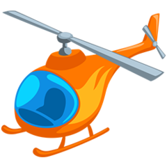 Helicopter facebook messenger emoji