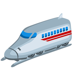 High-speed Train With Bullet Nose facebook messenger emoji
