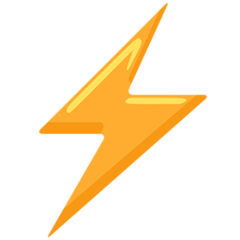 High Voltage Sign facebook messenger emoji