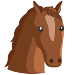Horse Face facebook messenger emoji