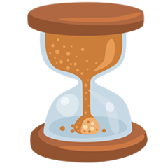 Hourglass With Flowing Sand facebook messenger emoji
