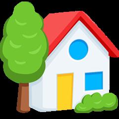 House With Garden facebook messenger emoji