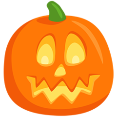 Jack-o-lantern facebook messenger emoji