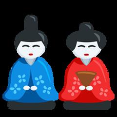Japanese Dolls facebook messenger emoji