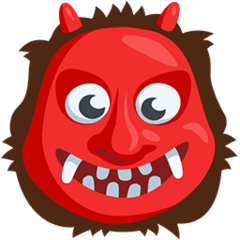 Japanese Ogre facebook messenger emoji