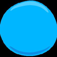 Large Blue Circle facebook messenger emoji