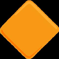Large Orange Diamond facebook messenger emoji