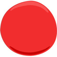 Large Red Circle facebook messenger emoji