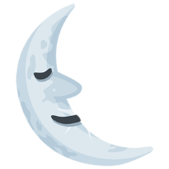 Last Quarter Moon With Face facebook messenger emoji