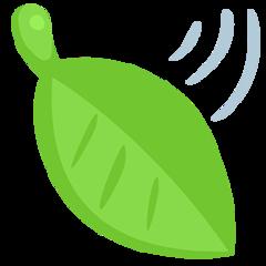 Leaf Fluttering In Wind facebook messenger emoji
