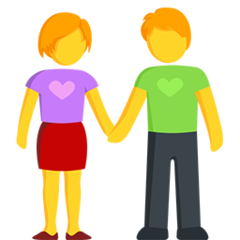 Man And Woman Holding Hands facebook messenger emoji