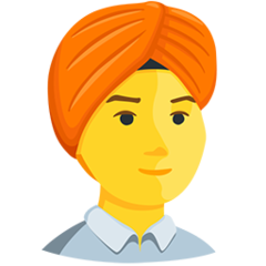 Man With Turban facebook messenger emoji