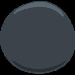 Medium Black Circle facebook messenger emoji