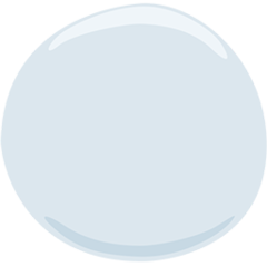 Medium White Circle facebook messenger emoji
