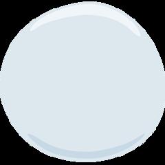 Medium White Circle facebook messenger emoji
