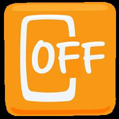 Mobile Phone Off facebook messenger emoji