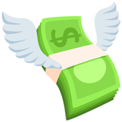 Money With Wings facebook messenger emoji