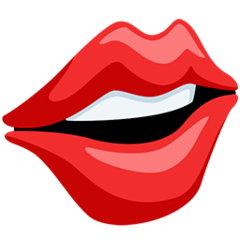 Mouth facebook messenger emoji