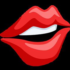 Mouth facebook messenger emoji