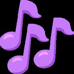 Multiple Musical Notes facebook messenger emoji