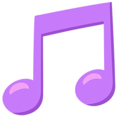 Musical Note facebook messenger emoji