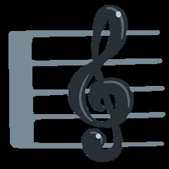 Musical Score facebook messenger emoji
