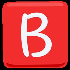 Negative Squared Latin Capital Letter B facebook messenger emoji