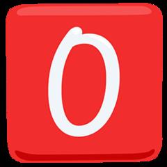 Negative Squared Latin Capital Letter O facebook messenger emoji