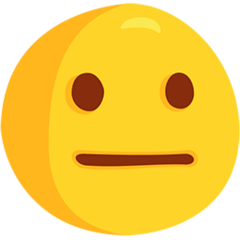 Neutral Face facebook messenger emoji
