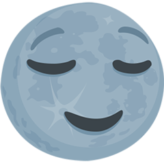 New Moon With Face facebook messenger emoji