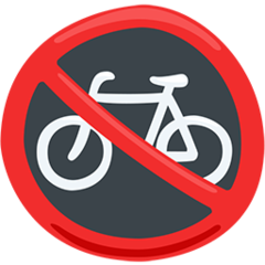 No Bicycles facebook messenger emoji