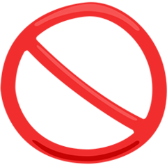 No Entry Sign facebook messenger emoji