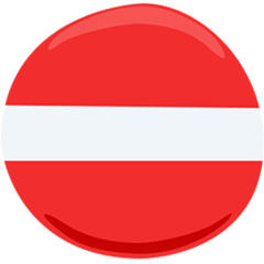 No Entry facebook messenger emoji